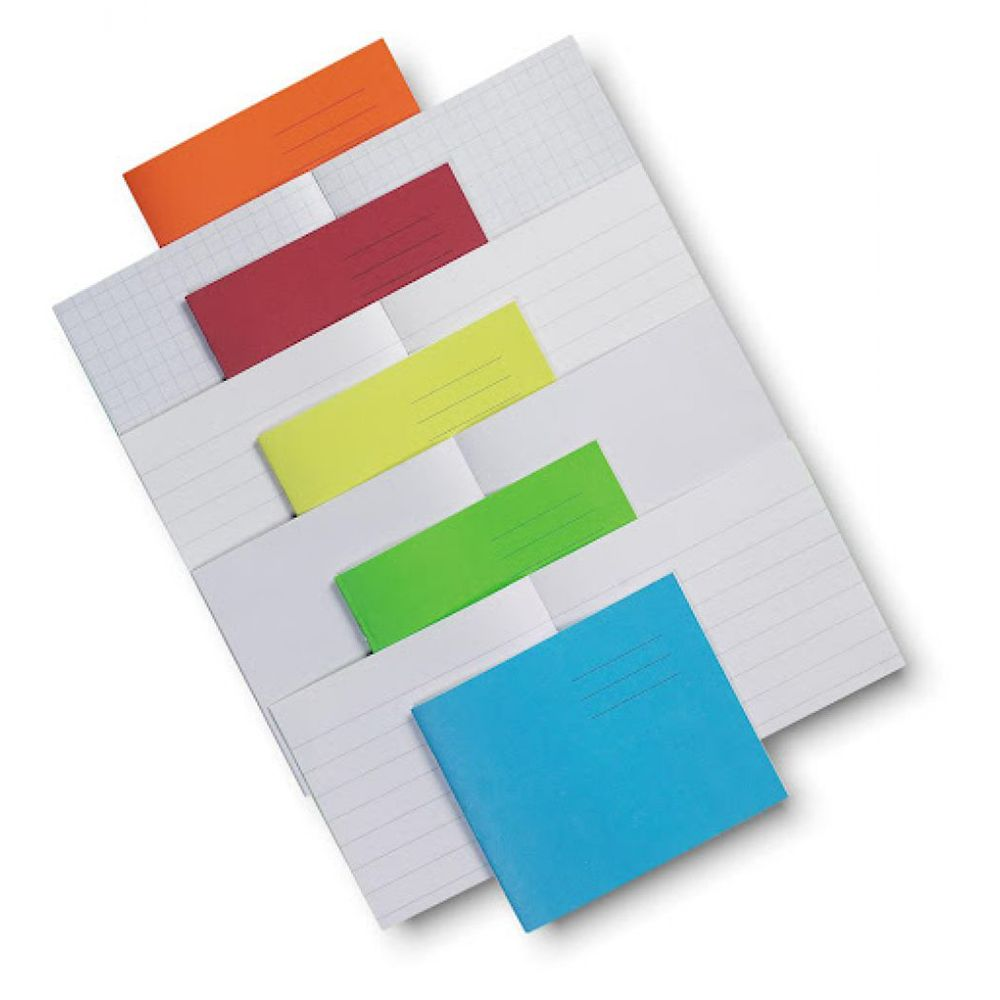 5.25 X 6.5 Exercise Books 15mm Ruled 24p Red N562405