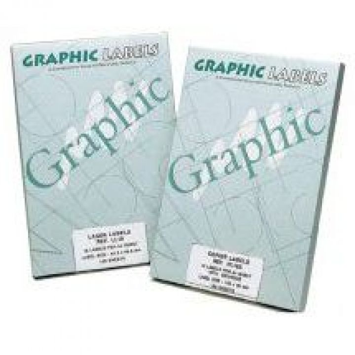 A4 Graphic Laser Labels 14UP - Round Corners (99.1x38.1mm)