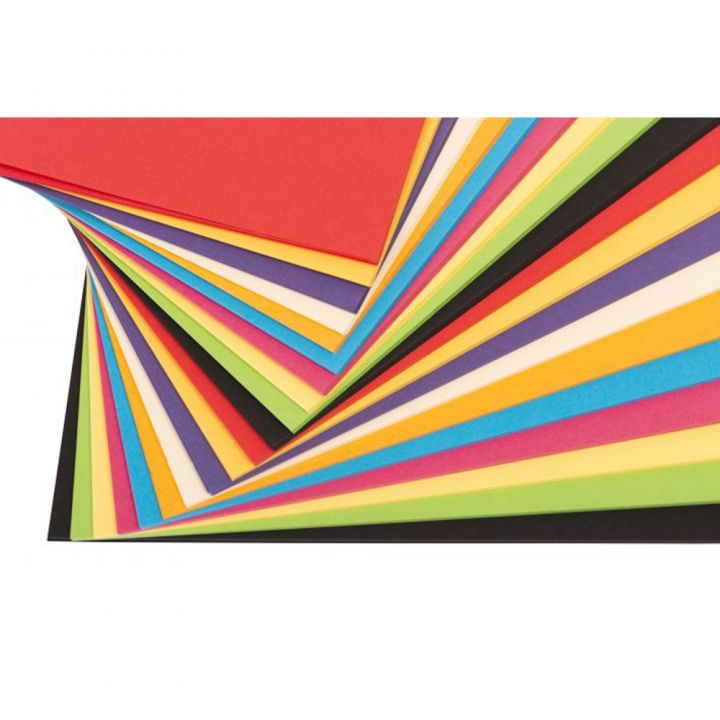 A4 Card 340mic Assorted Bright Colours