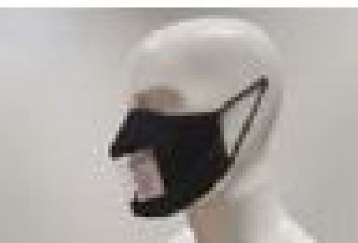 Black Visible Material Mask with Elastic Loop