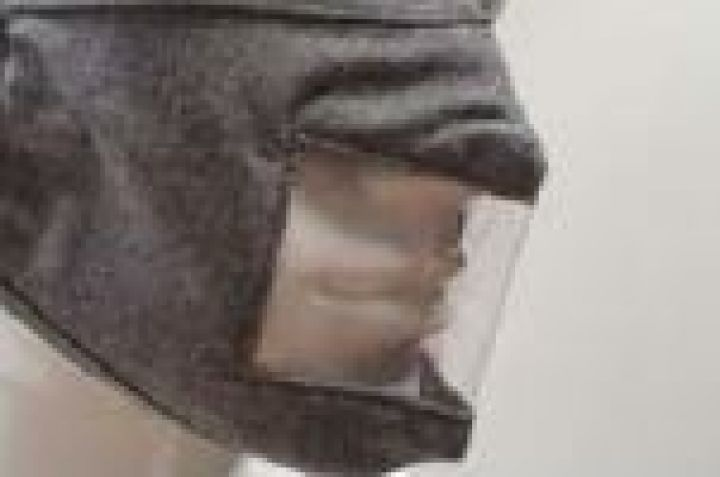 Grey Visible Material Mask with Elastic Loop