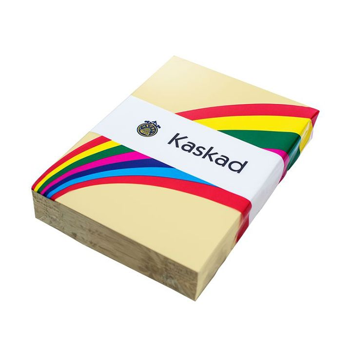 Kaskad Coloured Paper A4 80gsm Wheatear Yellow