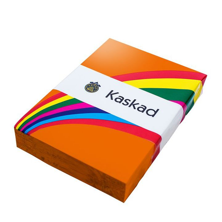 Kaskad Coloured Card A4 160gsm Fantail Orange