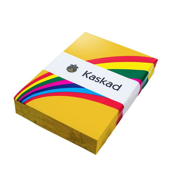 Kaskad Coloured Card A4 160gsm Canary Yellow