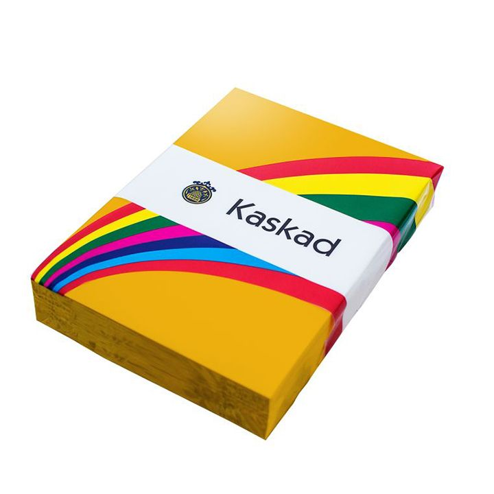 Kaskad Coloured Card A4 160gsm Goldcrest Yellow