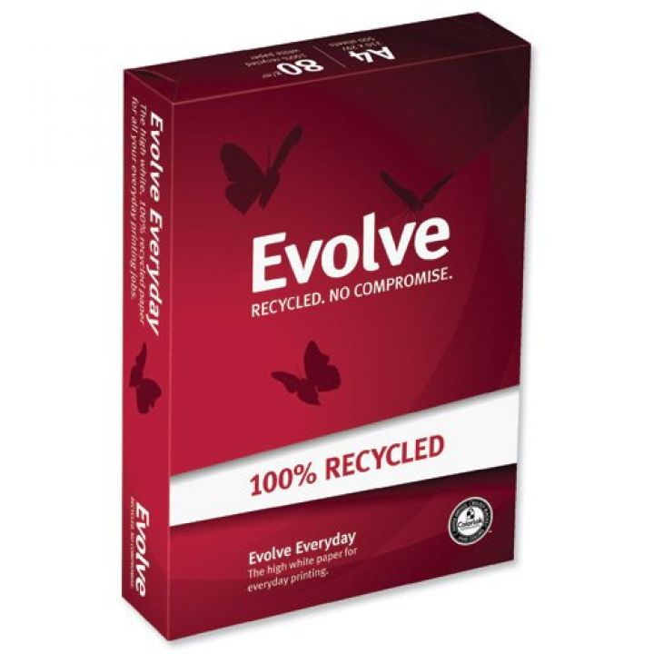 Evolve 100% Recycled Copier Paper A4 80gsm White