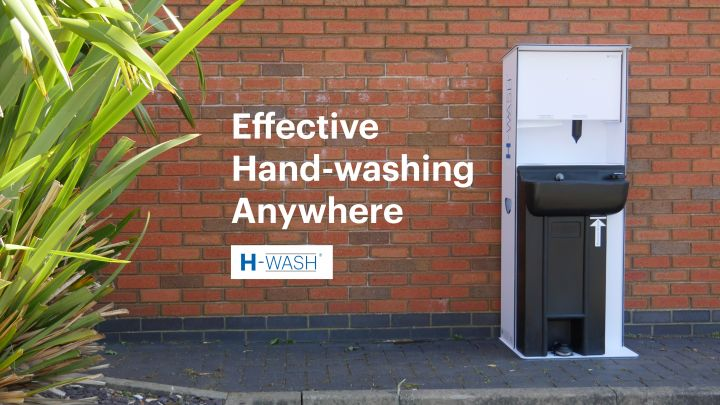 H-Wash45 - Freestanding Handwashing Unit With Water, Soap and Towel Dispenser