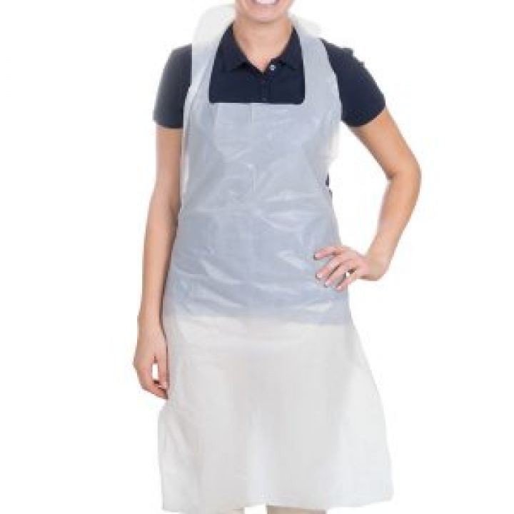 Disposable Aprons -White 686 x 1170mm 16Mu