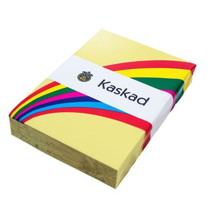 Kaskad Coloured Paper A4 80gsm Bunting Yellow